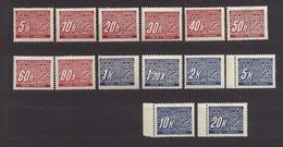 Bohemia & Moravia Böhmen Und Mähren 1939 MH * Mi P 1-14 Sc J 1-14 Portomarken. Postage Due. German Occupation. - Neufs