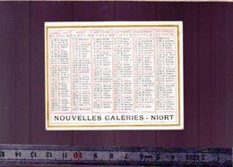 Calendrier - Patit Format - 1931 - Magasin Nouvelles Galeries Niort - Kalenders