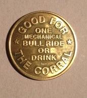 TOKEN JETON GETTONE STATI UNITI  TRANSIT USA ONE MECHANICAL BULL RIDE OR DRINK - Monétaires/De Nécessité