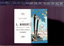 Calendrier - Patit Format - 1940 - Pharmacie L.Robert - Niort  (+ Carte De Voeux 1940) - Small : 1921-40