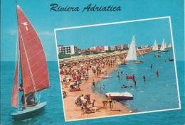 RIVIERA ADRIATICA - Barca A Vela - Spiaggia Animata - Cartoline