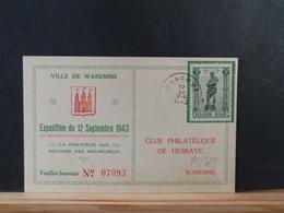 75/329  CP  BELGE  1943  OBL. WAREMME - Belgien