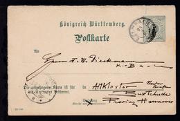 Ziffer 5 Pfg. Frageteil Mit K3 CALMBACH 24.8.00 Nach Altkloster Bei Buxtehude,  - Wurtemberg