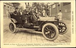 Cp Coupe De La Presse 1907, Renaux, Sieger Des Rennens Auf Continental Gleitschutz - Cartes Postales