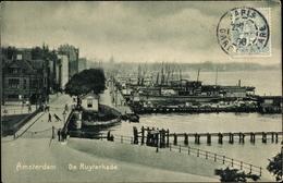 Cp Amsterdam Nordholland Niederlande, De Ruyterkade, Hafenpartie - Nederland