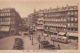 Lille - Place De La Gare Et Rue Faidherbe, 1948 - Lille