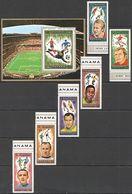 N750 MANAMA !!! OVERPRINT GOLD MUNICH FOOTBALL OLYMPIC GAMES WORLD CUP MUNICH 1972-1974 1SET+1BL MNH - Copa Mundial