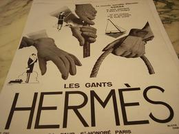 ANCIENNE AFFICHE PUBLICITE HERMES SELLIER GANT  1929 - Unclassified