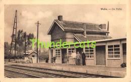 CPA WELLE DE HALTE GARE STATION STATIE - Denderleeuw