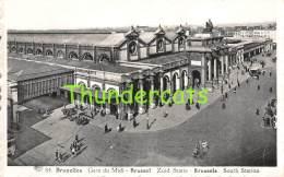 CPA  BRUXELLES  GARE DU MIDI BRUSSEL ZUID STATIE - Chemins De Fer, Gares