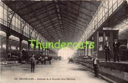 CPA  BRUXELLES INTERIEUR DE LA NOUVELLE GARE MARITIME - Spoorwegen, Stations