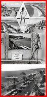 "3 CPSM/gf (06) NICE.  Multivues. /  Nice De Ma Fenêtre  /  Promenade Des Anglais, Bateau Le ""Galus""...B765 - Nice"