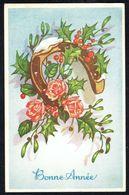 BONNE ANNEE - GELUKKIG NIEUWJAAR - Fer à Cheval, Fleurs Et Houx - Circulé - Circulated - Gelaufen - 1953. - Nouvel An