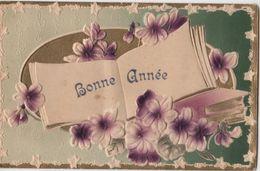 CPA -  Carte Fantaisie Gaufrée - Fleurs Violette - Otros