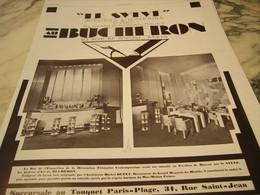 ANCIENNE PUBLICITE MAGASIN DE MEUBLE BUCHERON  1929 - Publicidad