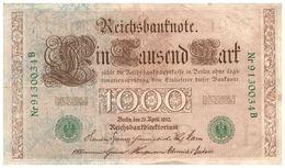 Billet > Allemagne > Année  1910  > Valeur 1 000 - [ 2] 1871-1918 : German Empire