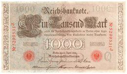 Billet > Allemagne > Année  1910  > Valeur 1 000 - 1000 Mark