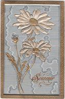 CPA -  Carte Fantaisie Gaufrée - Fleurs Marguerite - Flores