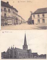 Waregem : Statiestraat + Kerk - Waregem