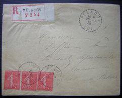 PELACOY (LOT) 1929 Joli Cachet Sur Lettre Recommandée Pour Cahors - Poststempel (Briefe)