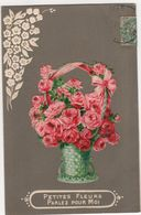 CPA -  Carte Fantaisie Gaufrée - Ajoutis Fleurs - Flores
