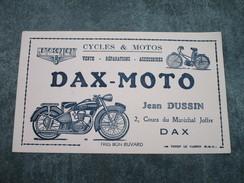 DAX-MOTO  .  Cycles & Motos  .  Jean DUSSIN 2, Cours Du Maréchal Joffre (buvard Blanc) - Moto & Vélo