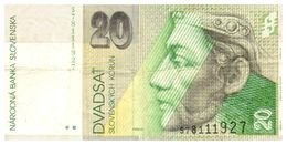 Billet > Slovaquie > Année  2004  > Valeur 20 DVA - Slowakije