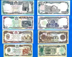 Afghanistan Lot 10 20 50 100 500 1000 5000 10000 Afghanis 1993 Neuf UNC 8 Billets Afghani Paypal Skrill Bitcoin OK - Afghanistan