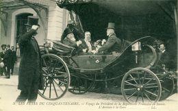 Les Fêtes Du Cinquantenaire Voyage Président République En Savoie Arrivée à La Gare Cpa - Albertville