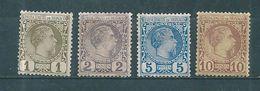 Monaco Timbres De 1885  N°1 A 4 Neufs Sans Gomme ( Cote 340€) - Neufs