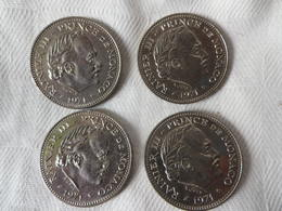 4 Pièces 5 Francs Rainier III 1971 état Super - Monaco