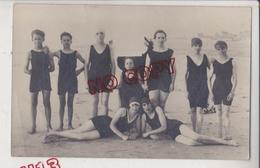Au Plus Rapide Berck Plage Carte Photo 1928 Enfant Maillot Baignade - Berck