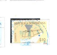 Rep.Dominicana PO 2000 Faro Colombo Scott.1371+Used See Scan On Scott.Pages - Repubblica Domenicana