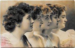 CPA Fantaisie Femme Girl Women Gaufré Embossed Romantisme Circulé Art Nouveau - Mujeres