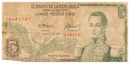 Billet >Colombie > Année  1975  > Valeur 5 - Colombie