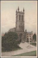 St Paul's Church & War Memorial, Honiton, Devon, C.1920 - Dimond's Library Postcard - England