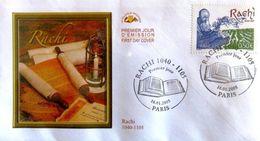 FRANCE 3746 FDC Premier Jour Rabin RACHI Commentateur De La Bible Et Du Talmud - FDC