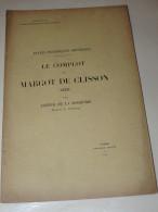 DE LA BORDERIE - Le Complot De MARGOT De CLISSON (1420) - Bretagne  1900 - 1801-1900
