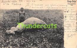 CPA CONGO BELGE HIPPOPOTAME TUE NELS SERIE 14 NO 56 - Congo Belge - Autres