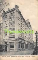 CPA  PALACE HOTEL BRUXELLES VUE VERS LA RUE DES PLANTES - Cafés, Hôtels, Restaurants