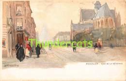 CPA  ILLUSTRATEUR CASSIERS BRUXELLES RUE DE LA REGENCE - Avenues, Boulevards