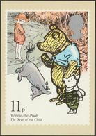 Winnie The Pooh, 11p, 1979 - Royal Mail Stamp Card PHQ 37c - Stamps (pictures)