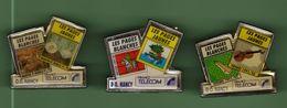 FRANCE TELECOM *** D.O. NANCY *** Lot De 3 Pin's Different *** A033 - France Telecom