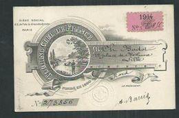 Carte D'identité Du Touring Club De France 1914 Délivrée à Lille (Nord) - Autres