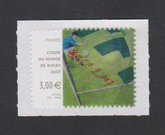 FRANCE - 2007 - N° 4080 Ou 128 - Autoadhésif - Coupe Du Monde De Rugby 2007  (Procédé Lenticulaire) Neuf ** - France