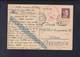 Dt. Reich PK 1944 Französischer Zwangsarbeiter Lager 6 Laband Oberschlesien - Germania