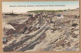 Clare ARDNACRUSHA Shannon Elec Scheme Excavating The Canal     Ir213 - Clare