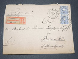 ALLEMAGNE - Enveloppe En Recommandé De Ueberhrrn Pour Berlin En 1887 - L 14358 - Covers & Documents