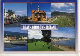 BRAY WICKLOW  MUTLI VIEW GOLF BEACH TOWN  NICE STAMP - Wicklow