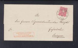 Dt. Reich Portopflichtige Dienstsache Landes-Direktorium Hannover 1884 - Deutschland